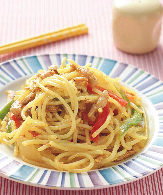 食譜:咖哩炒麵(1)