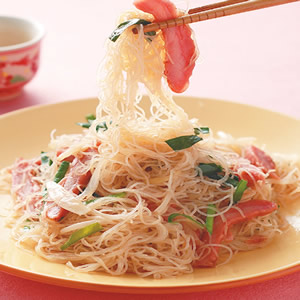 叉燒韭菜炒米粉