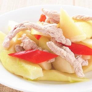 茭白筍炒肉絲(1)