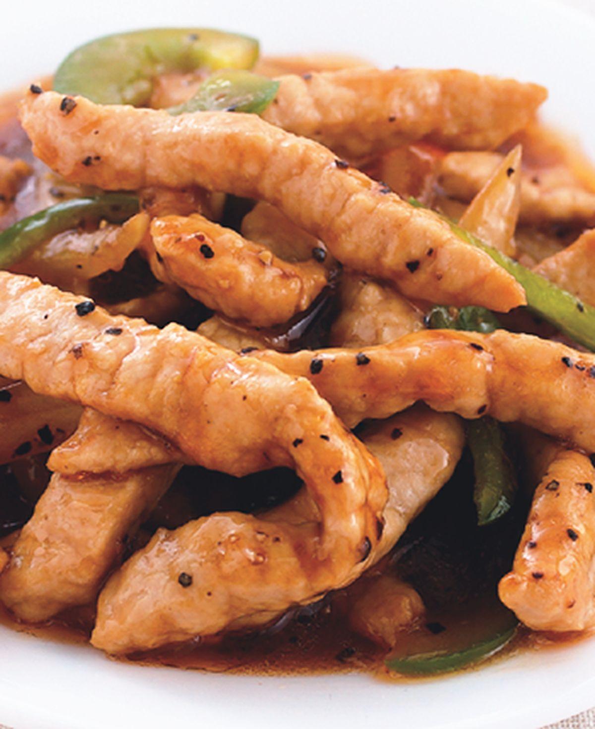 食譜:黑椒豬柳