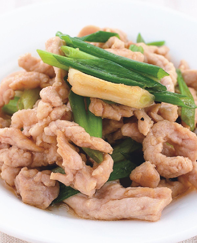 食譜:青蔥炒肉絲