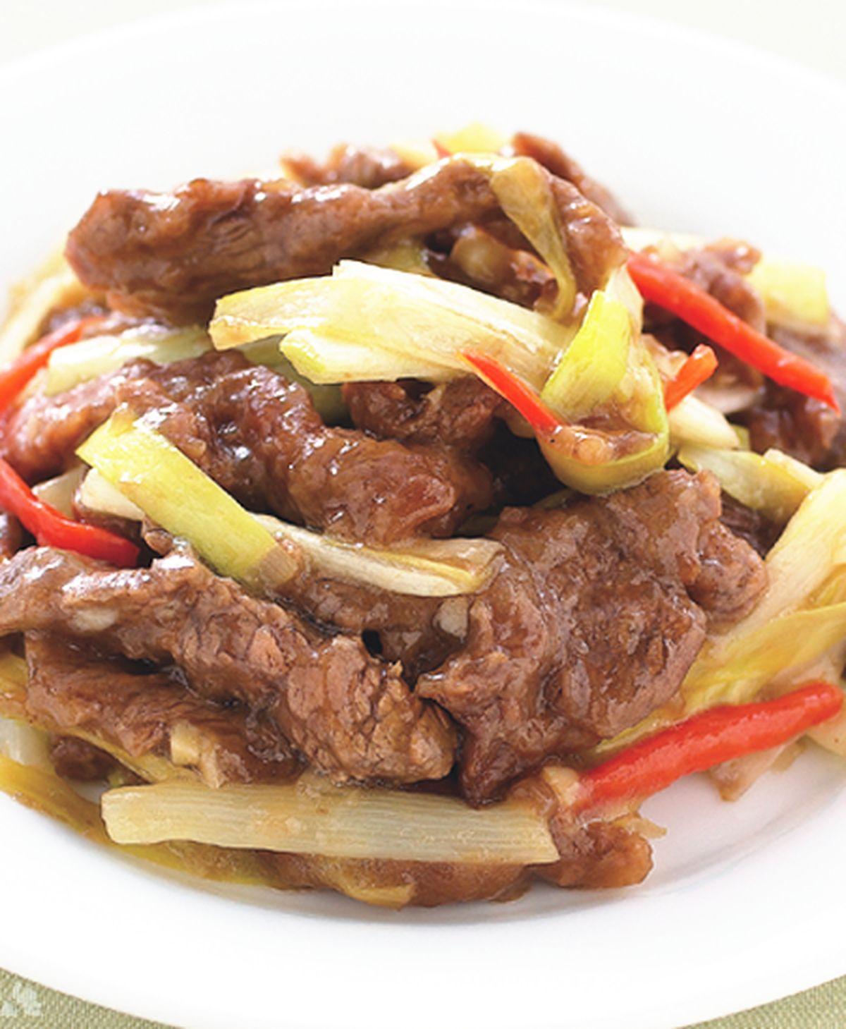 食譜:韭黃炒牛肉絲
