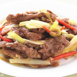 韭黃炒牛肉絲
