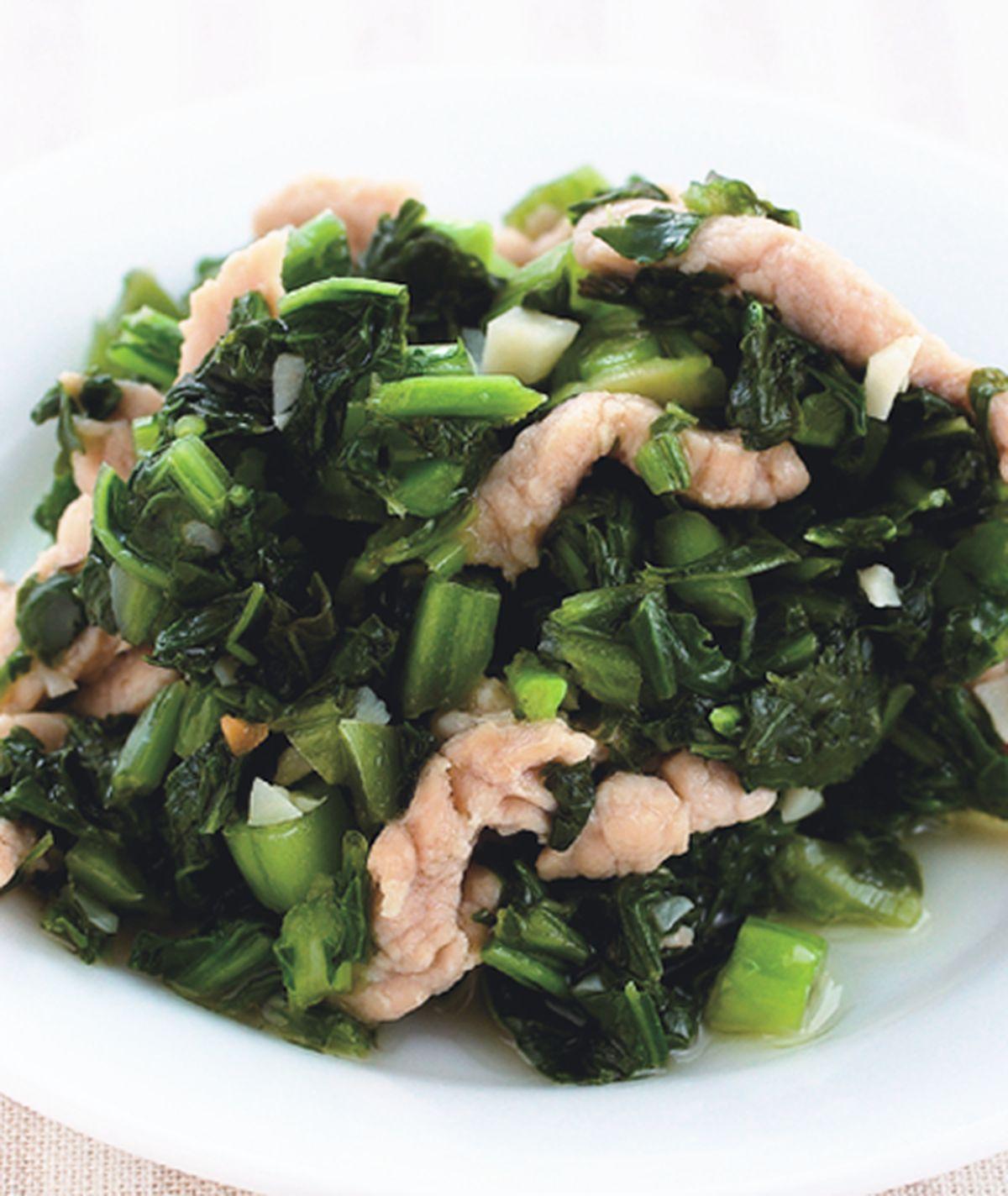 食譜:雪菜肉絲(1)