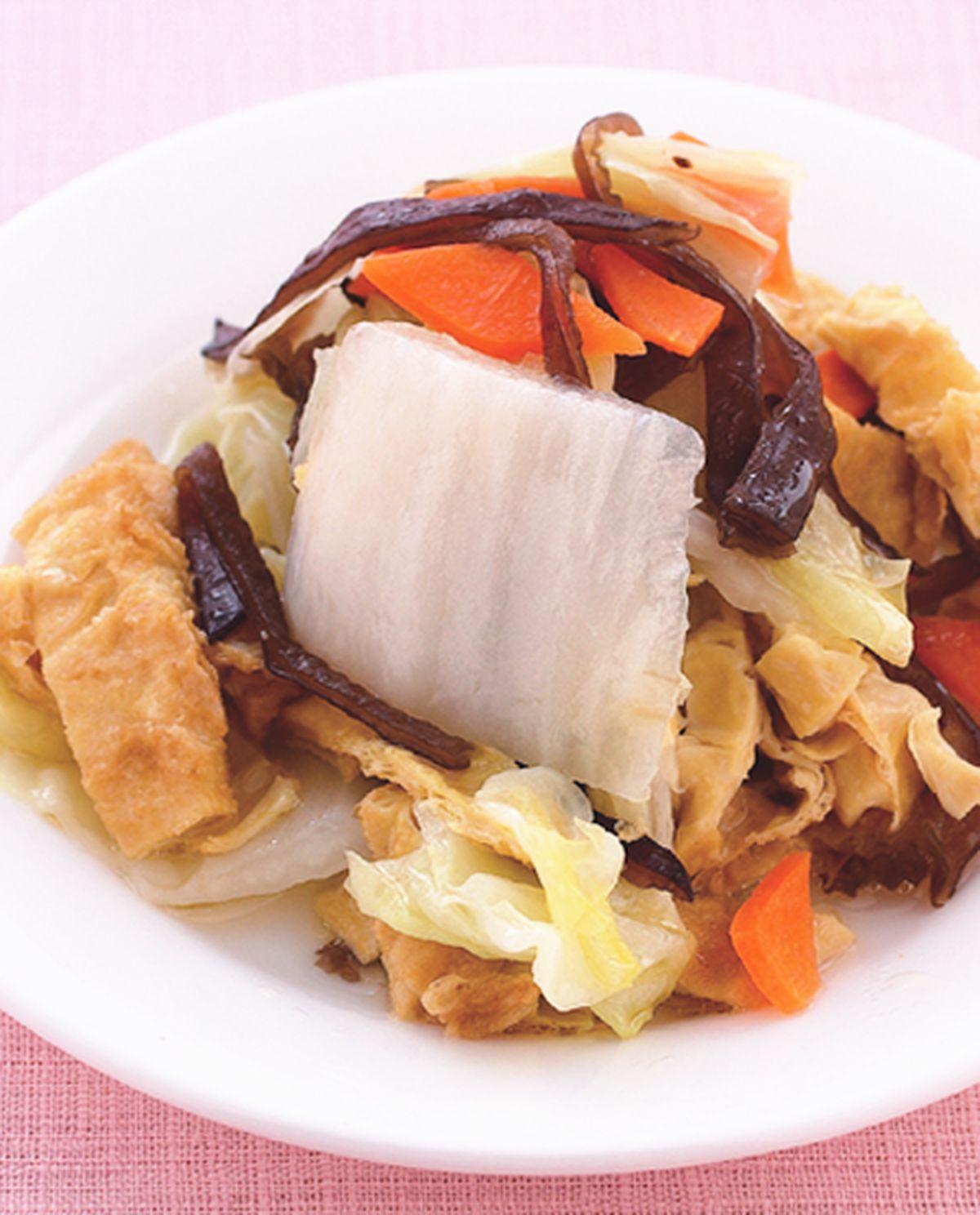 食譜:豆包炒大白菜