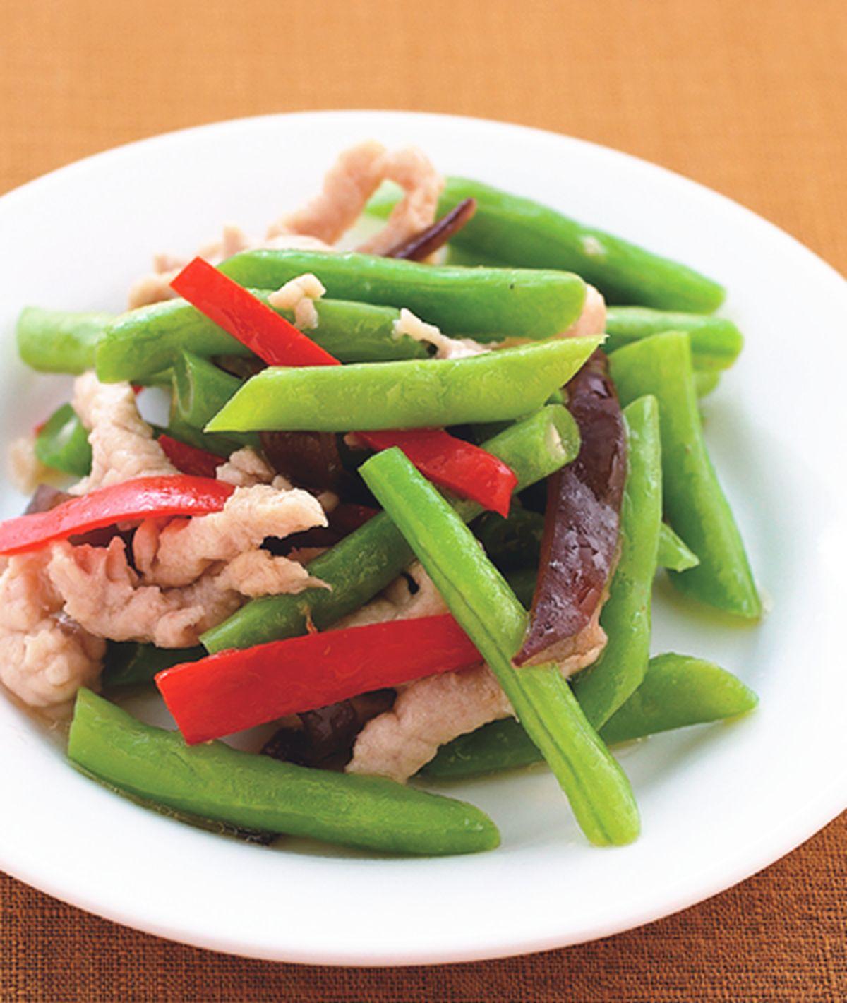 食譜:四季豆炒肉絲
