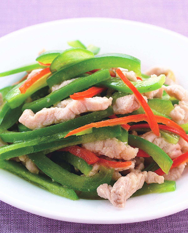 食譜:青椒炒肉絲(2)
