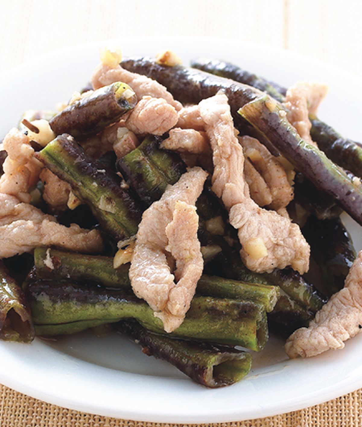食譜:長豆炒肉絲