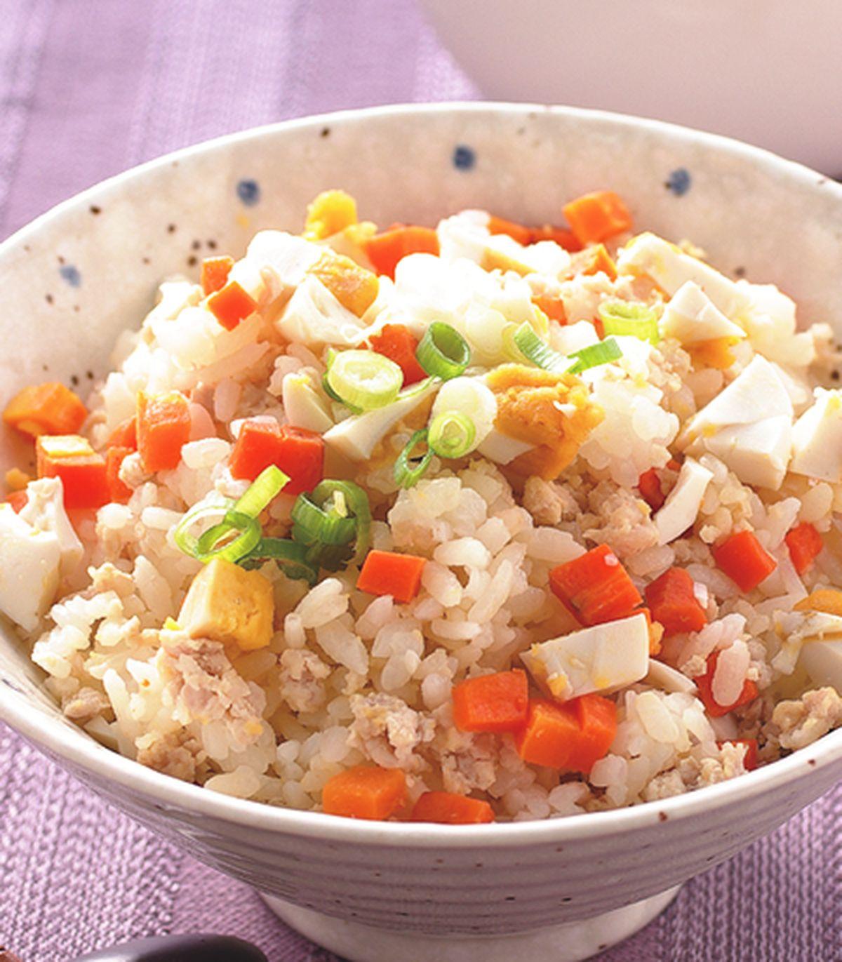 食譜:鹹蛋肉末飯
