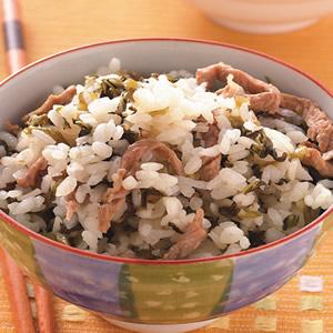 雪菜肉絲飯
