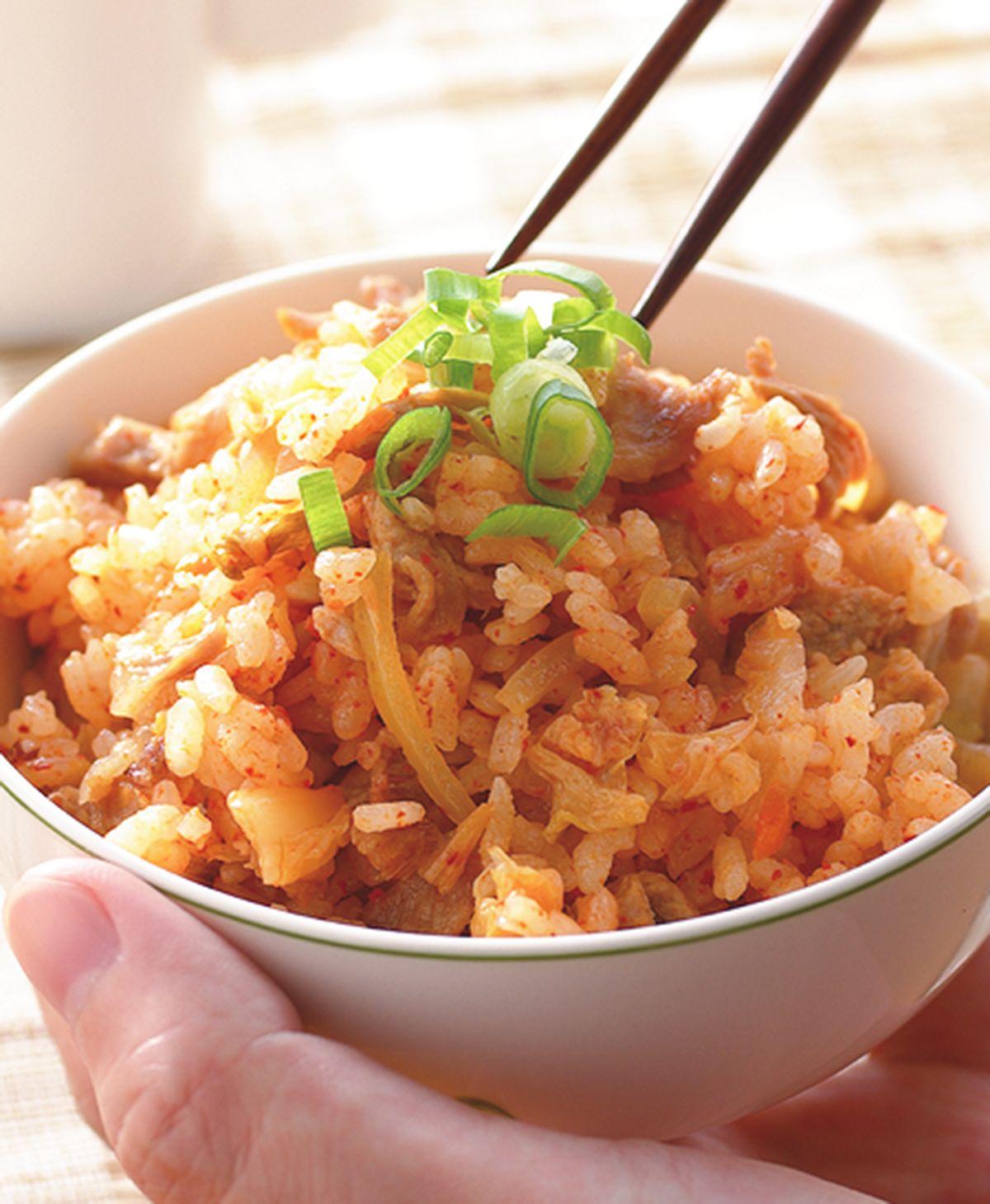 食譜:泡菜豬肉飯