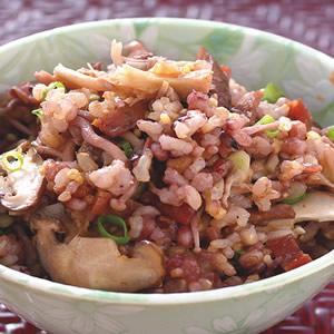 肉乾什錦菇飯