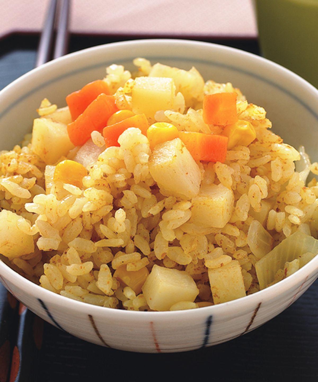 食譜:咖哩三色飯