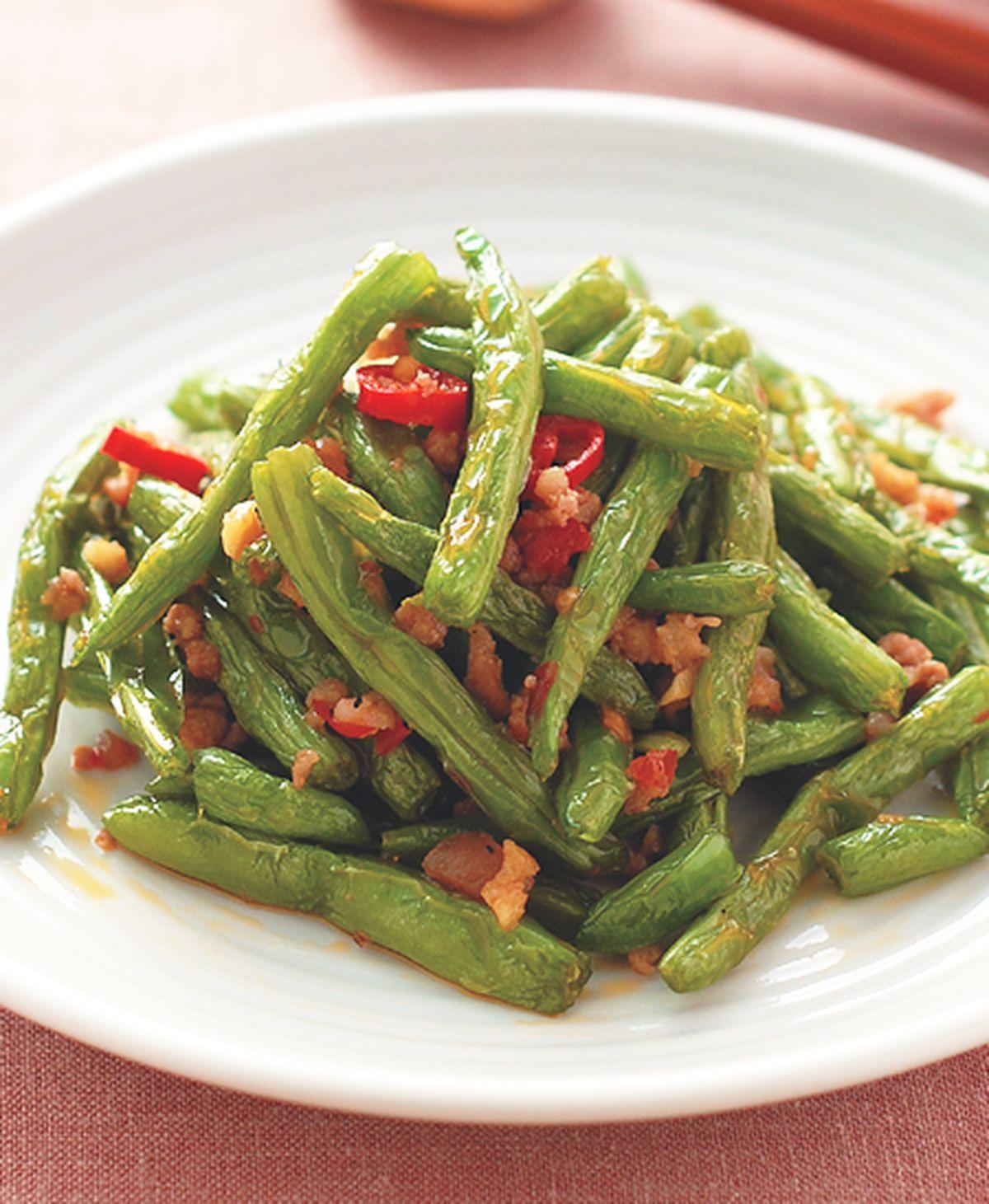 食譜:乾扁四季豆(2)