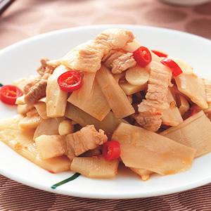 肉絲炒脆筍片