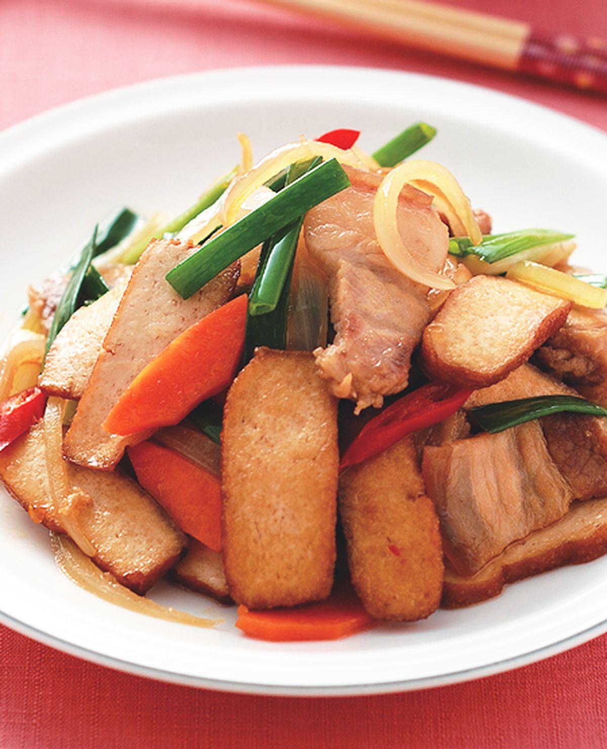 食譜:豆干炒回鍋肉