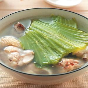芥菜雞湯(1)