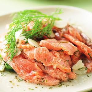蒔蘿鮭魚沙拉