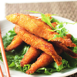 香茅青檸烤柳葉魚