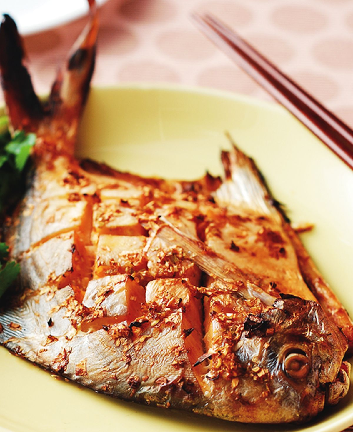 食譜:蔥烤白鯧魚