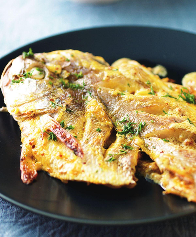 食譜:烤芥末鯽魚