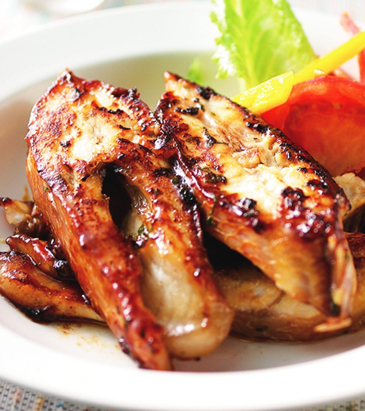 食譜:薄荷味噌燒烤紅尼羅魚