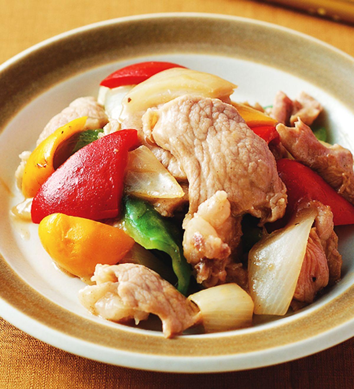食譜:彩椒滑肉片