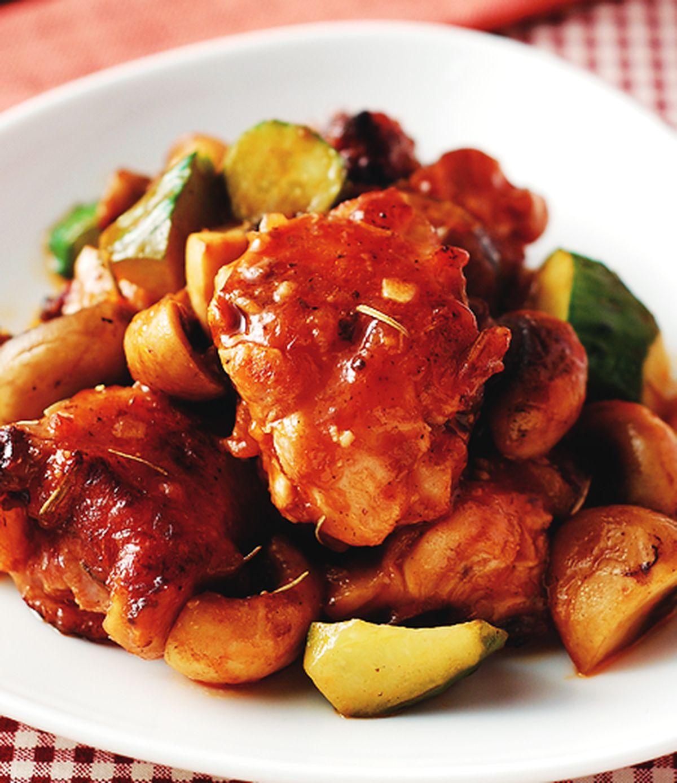 食譜:蘑菇炒雞丁