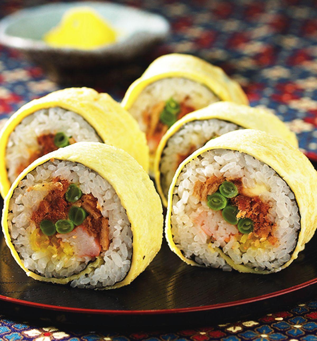 食譜:蛋皮壽司