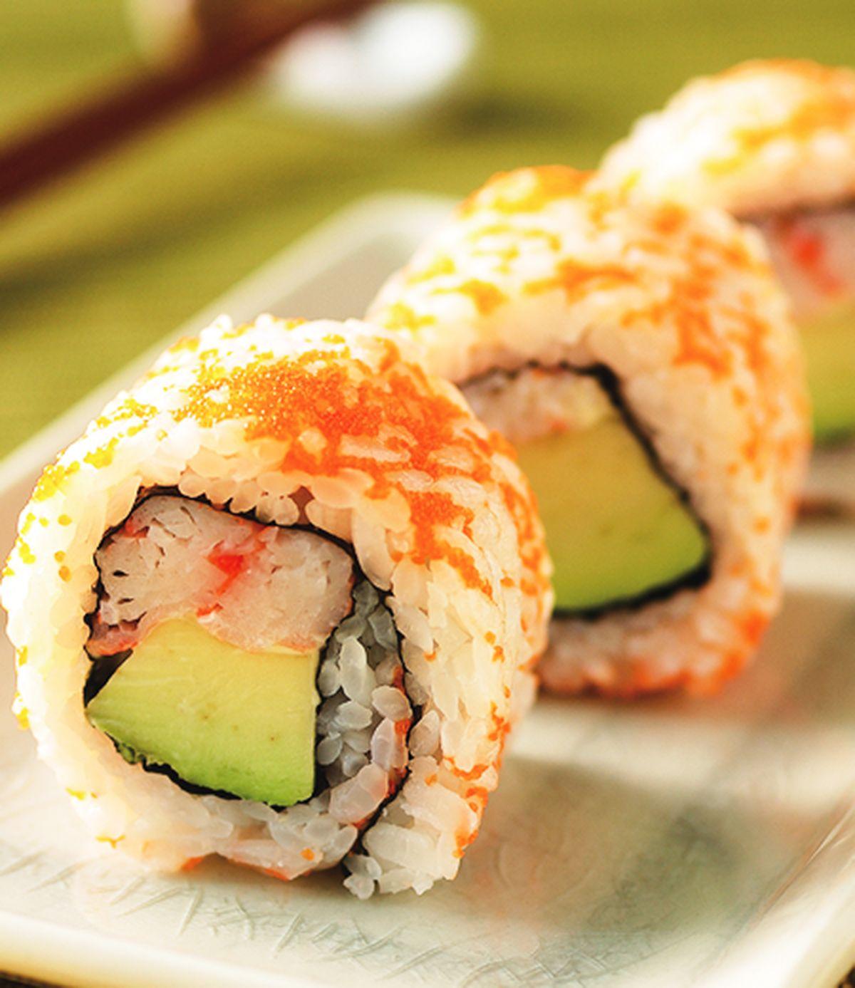 食譜:酪梨蟳味壽司
