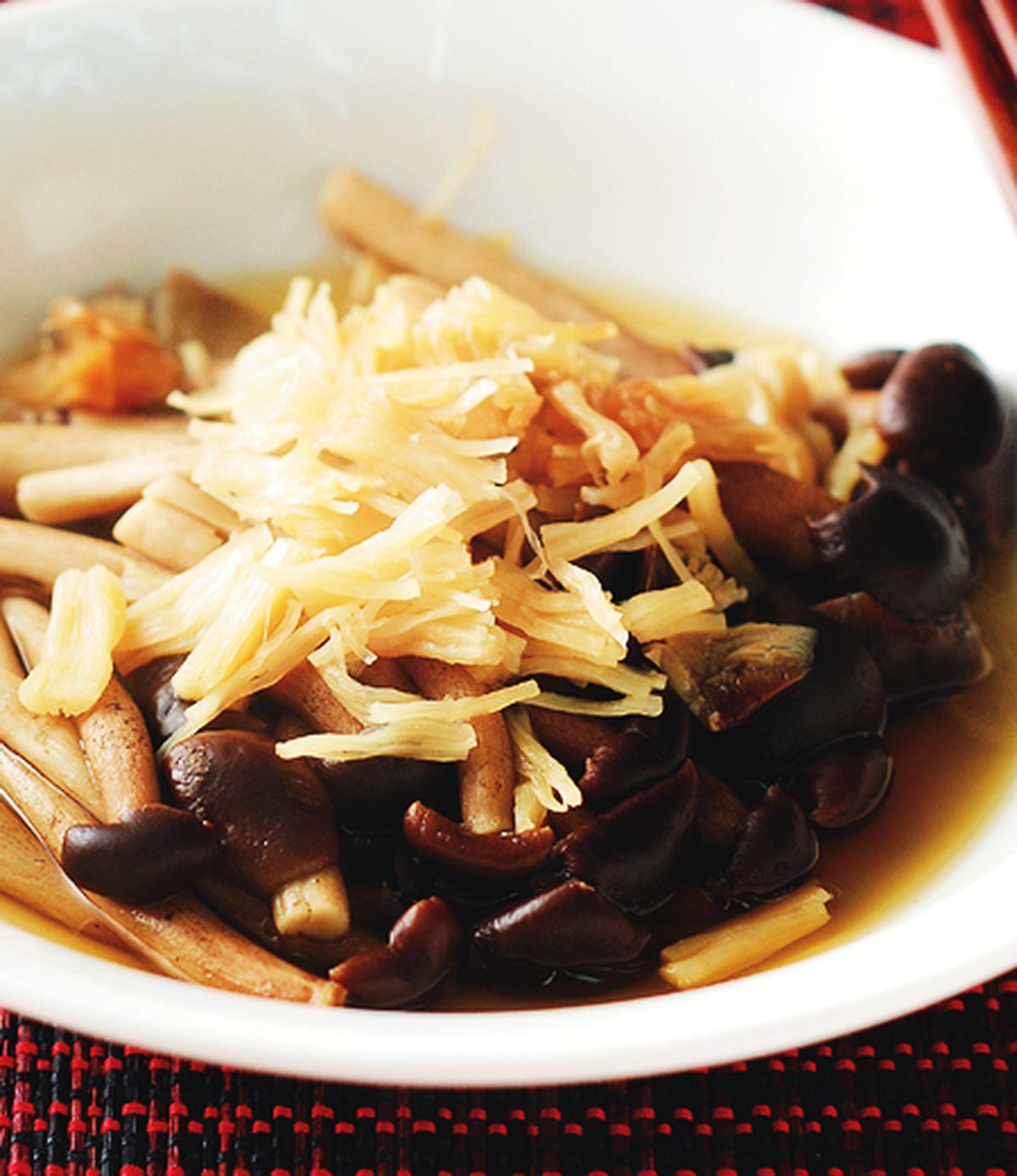 食譜:干貝蒸菇
