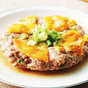 鹹蛋蒸肉餅(2)