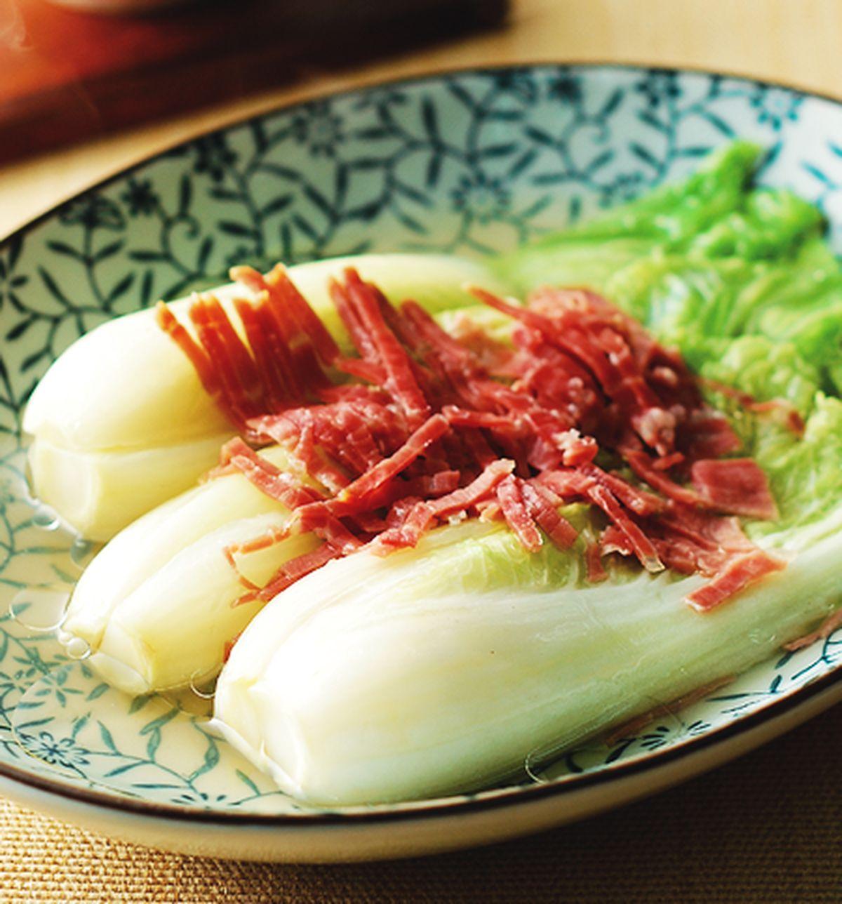 食譜:火腿蒸白菜心