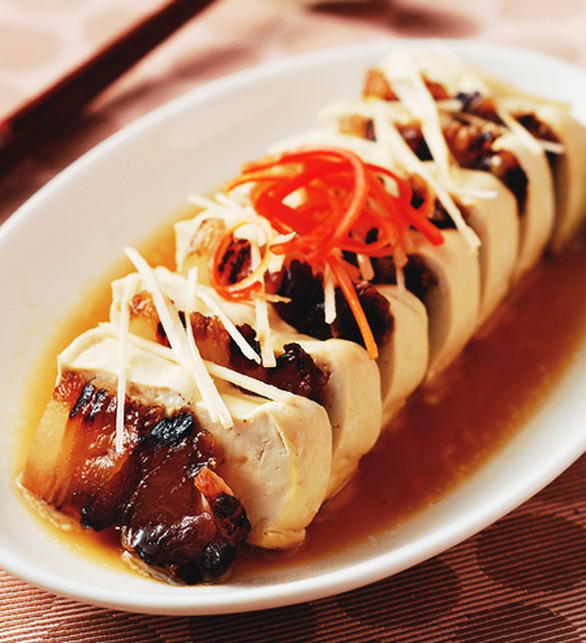 食譜:臘肉蒸豆腐