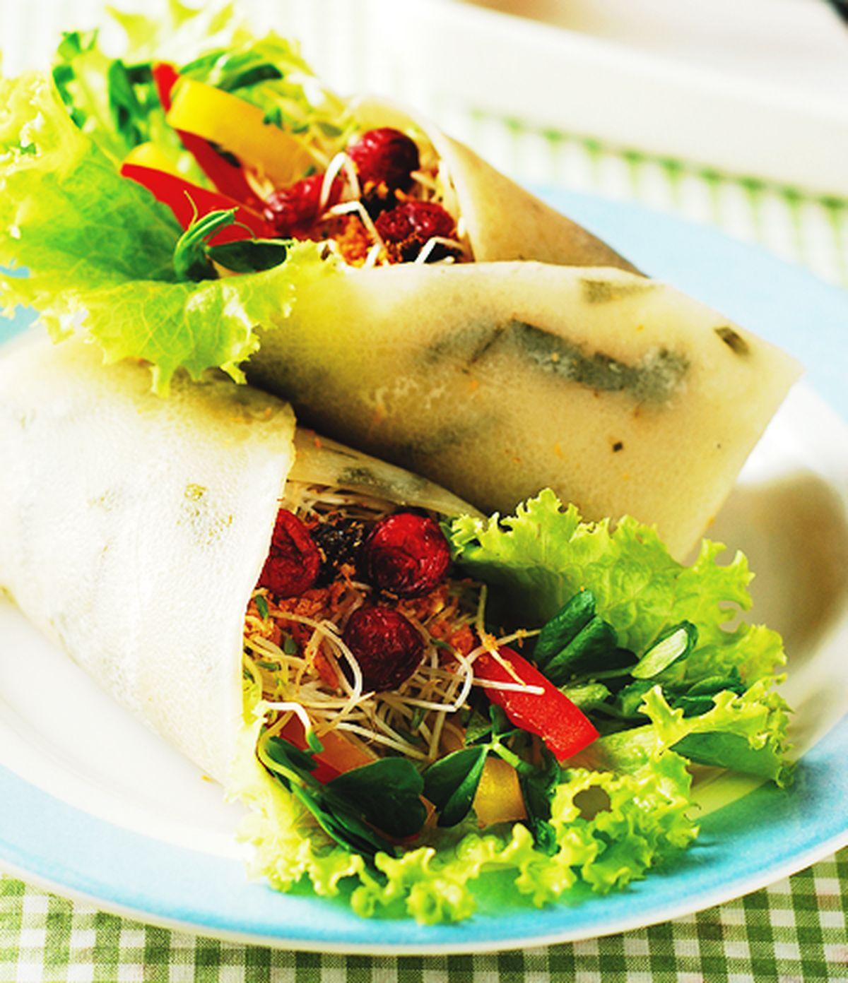 食譜:生菜素捲餅