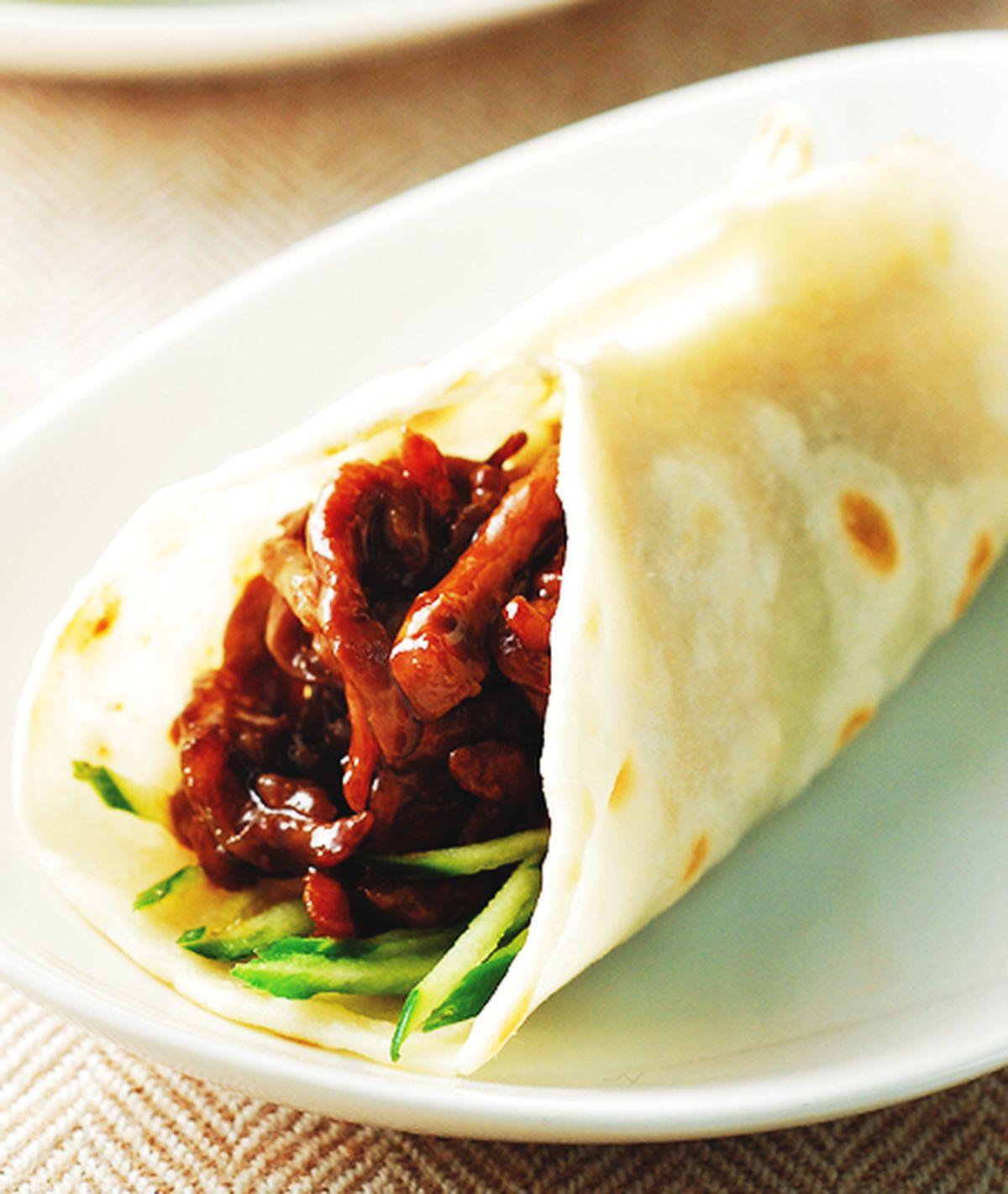 食譜:京醬肉絲捲