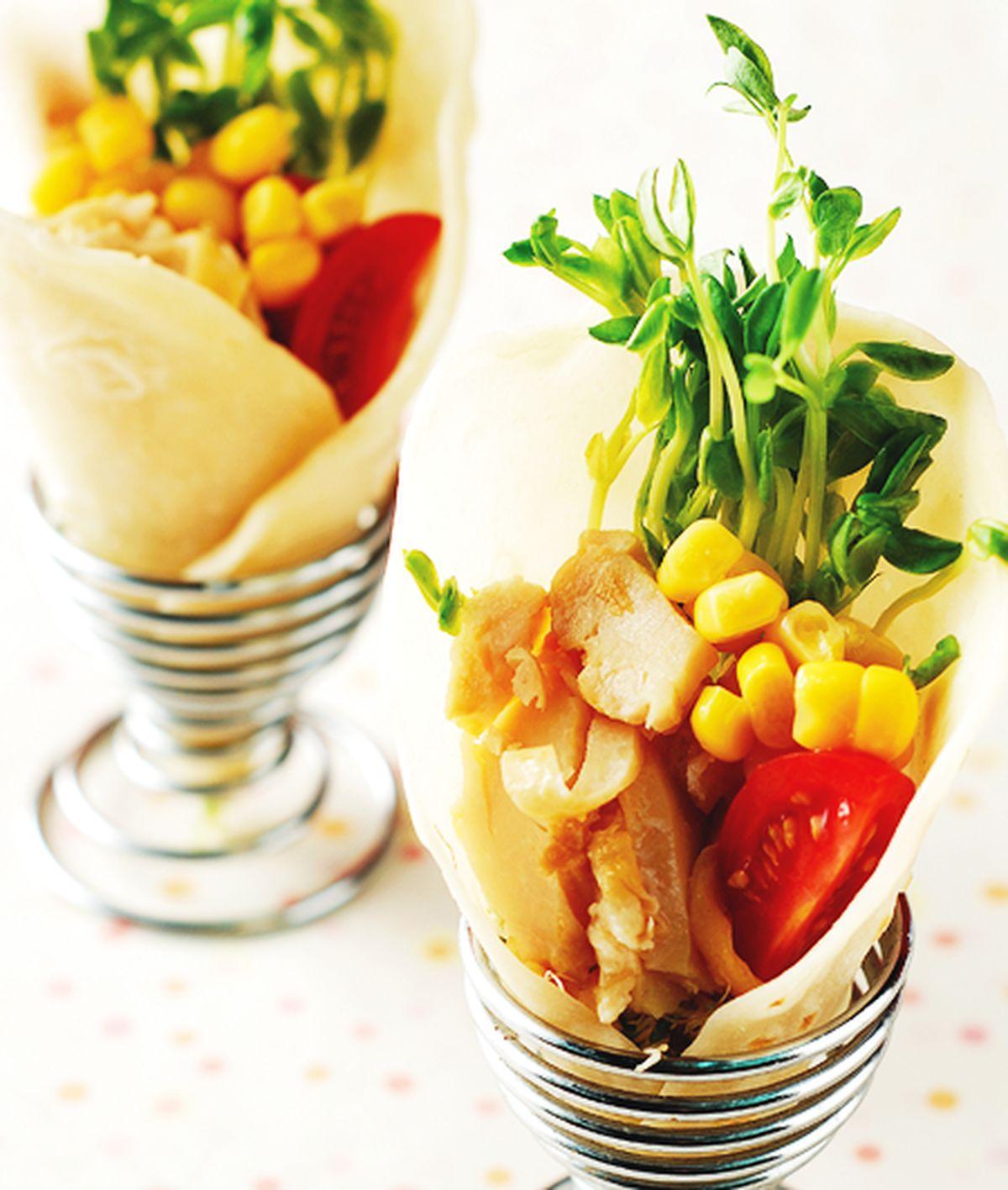 食譜:沙拉燻雞肉捲