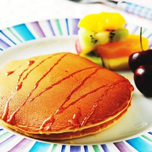 蜂蜜水果鬆餅