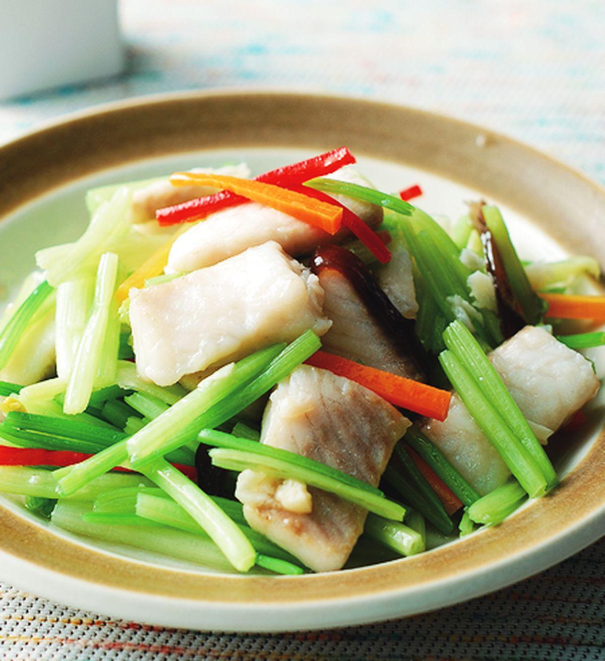 食譜:芹菜炒鯛魚片