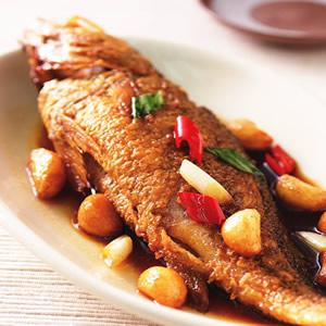 蒜子燒黃魚(2)