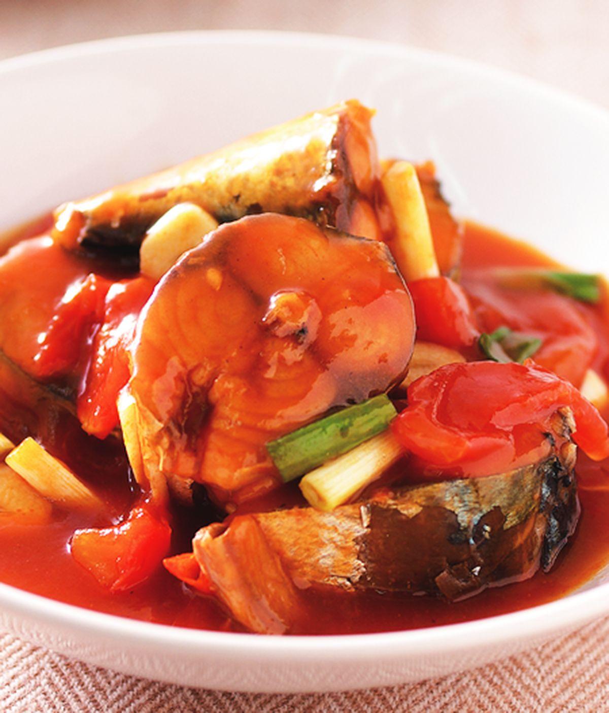食譜:茄汁燉鯖魚