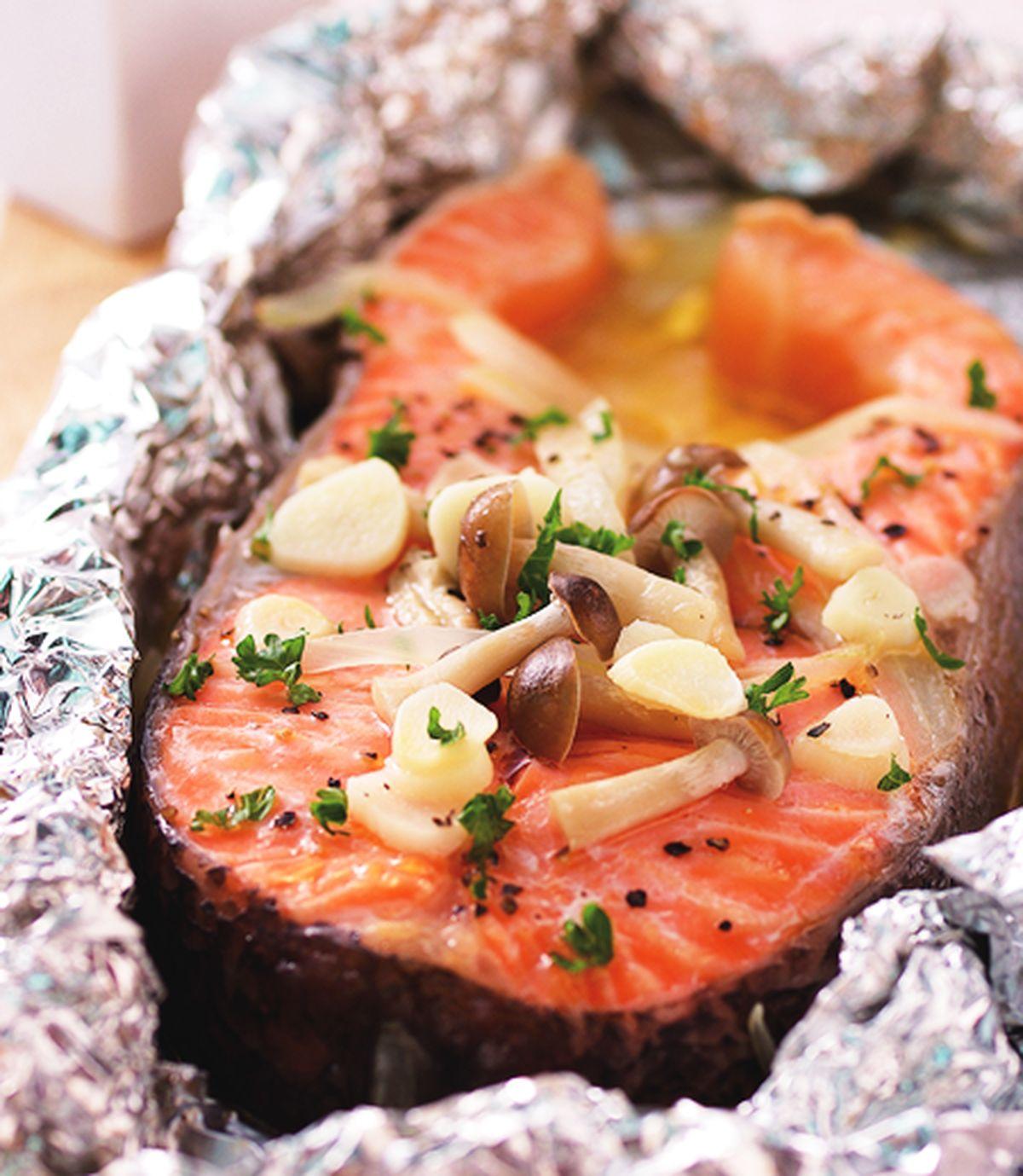 食譜:奶油烤鮭魚