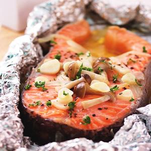 奶油烤鮭魚