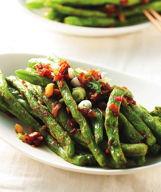 食譜:乾煸四季豆(6)