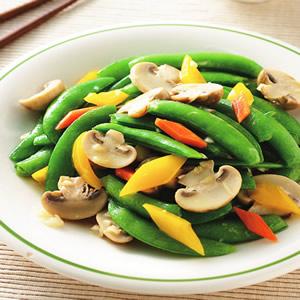 洋菇炒甜豆