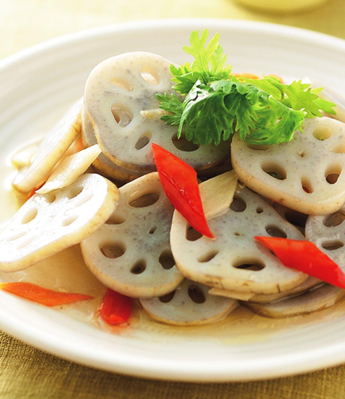 食譜:醋炒蓮藕片