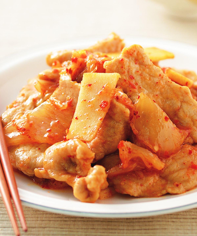 食譜:泡菜炒肉片(4)