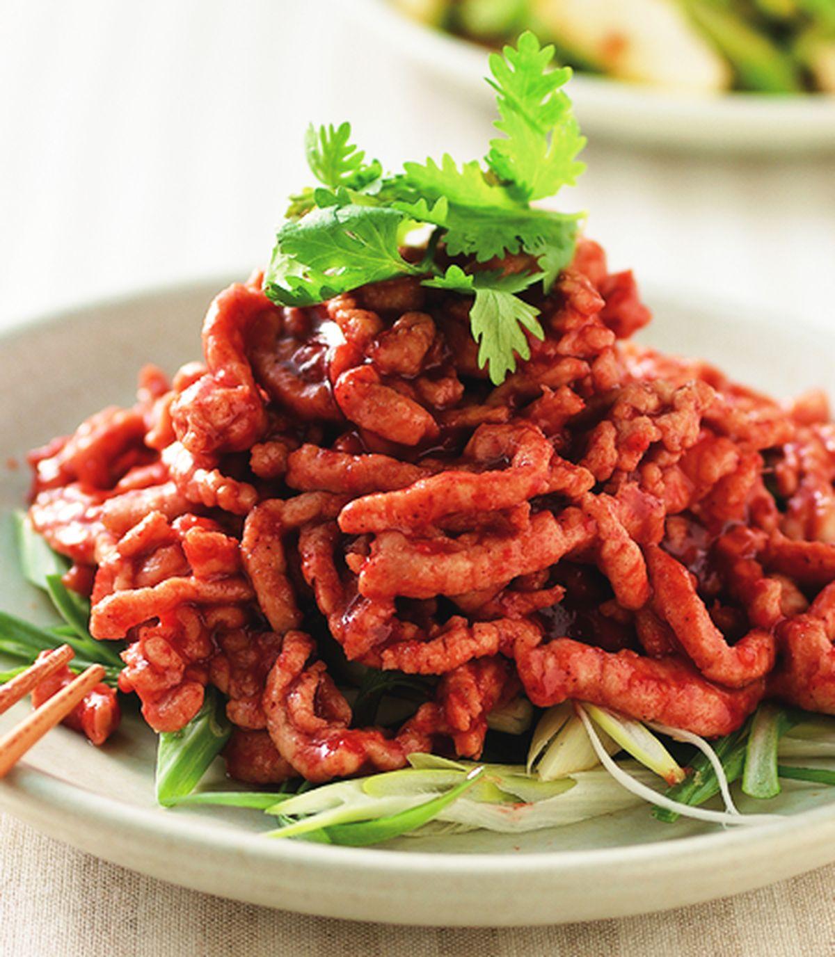 食譜:紅糟炒肉絲(1)