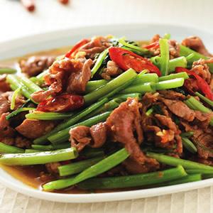 沙茶羊肉炒空心菜(1)