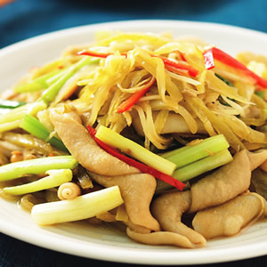 酸菜炒鴨腸